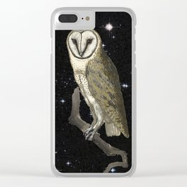 Owl in the Universe Clear iPhone Case