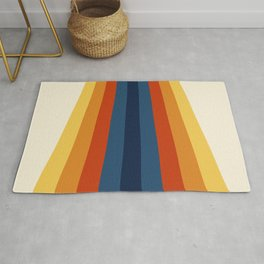 Bright 70's Retro Stripes Rug