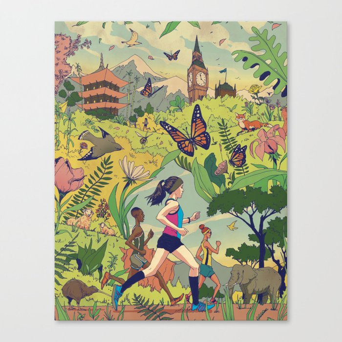 Run Around The World Canvas Print