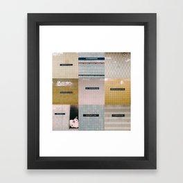 Nine shades of tile Framed Art Print