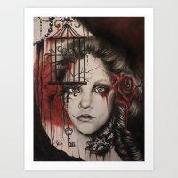inner demons Art Prints featuring INNER DEMONS by Sheena Pike ART