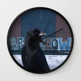 Be Crow Wall Clock