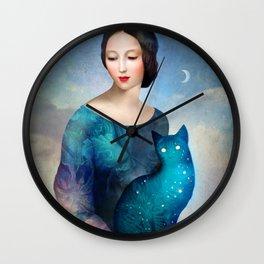 Night Cat Wall Clock