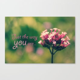 Spring Blooming Pink Flowers with Green Bokeh Background Canvas Print
