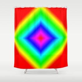 Diamond Prism Pulse Shower Curtain