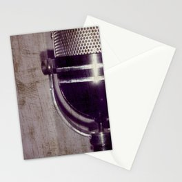 Vintage Microphone (scratched) Stationery Cards
