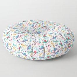 Alien + Socks + Flying Saucer in white Floor Pillow