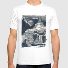 French Collage v1 Negative MEDIUM Mens Fitted Tee White