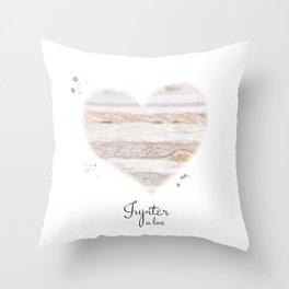 Jupiter in love Throw Pillow