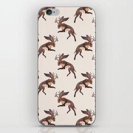Brown Jackalope iPhone Skin