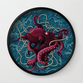 Octopus colored Wall Clock