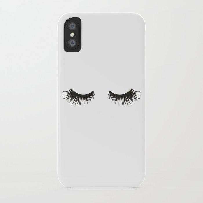closed eyelashes iphone case