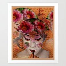 Kabuki II Art Print