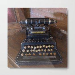 Crandall No3 typewriter Metal Print
