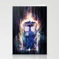 tardis Stationery Cards featuring Tardis by jasric