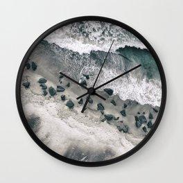 Rocky Shore Wall Clock