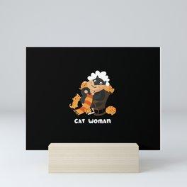 Cat Woman Mini Art Print