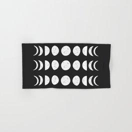 Moon Phases ( Black & White ) Hand & Bath Towel