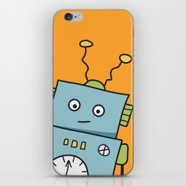 Friendly Blue Robot iPhone Skin