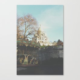 Du Sacre-Coeur Blue Canvas Print