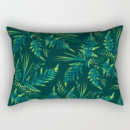 Fern leaves - green Rectangular Pillow