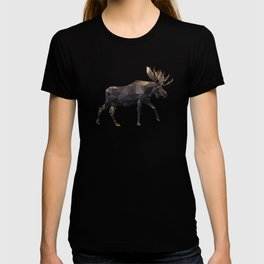 Polygon geometric Moose T-shirt