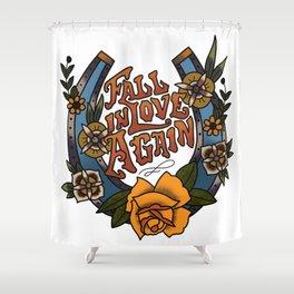 Fall In Love Again Shower Curtain