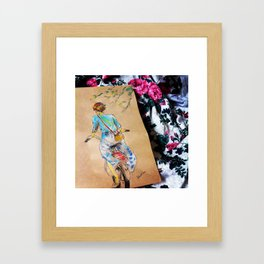 Riding Into the Flowers Framed Art Print