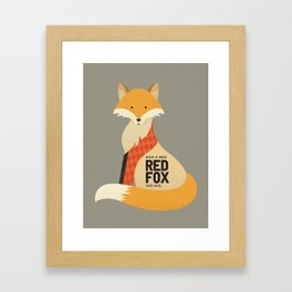 Hello Red Fox Framed Art Print