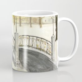 Locks on Little Lovers Bridge Coffee Mug