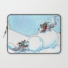 Snowman Building Laptop Sleeve