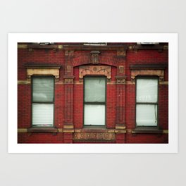 High Line Window Trio Art Print