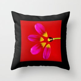 deconstructed tulip Throw Pillow