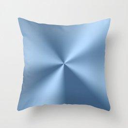 Blue metallic stainless steel pattern print Throw Pillow