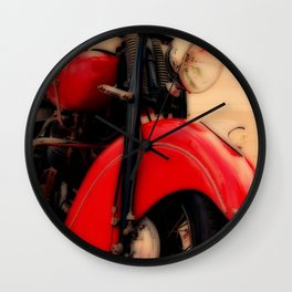 Motorcycle-Red-Poster Wall Clock