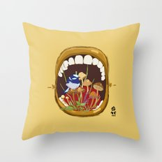 Untitled Mouth  Throw Pillow