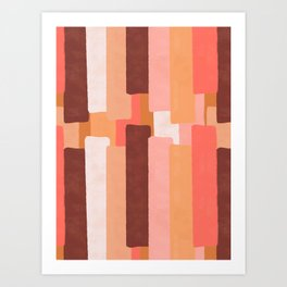 Line In Coral Art Print