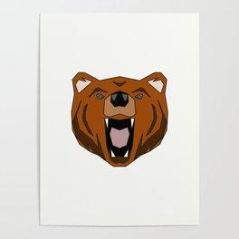 Geometric Bear - Abstract, Animal Design Poster