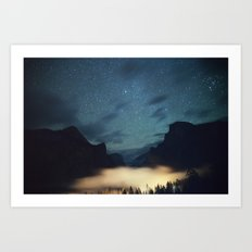 Stars Over Yosemite Art Print