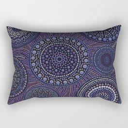 Dot Art Circles Purples Rectangular Pillow