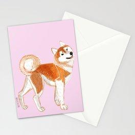 Japanese Dog Breeds: Akita Inu Stationery Cards