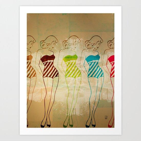 Retro Swimsuit Art Print