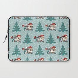 Christmas tree and santa claus SB11 Laptop Sleeve