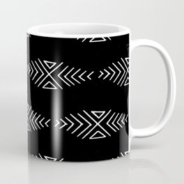 mudcloth 10 minimal textured black and white pattern home decor minimalist beach Coffee Mug