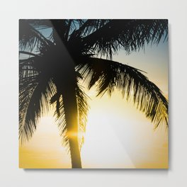 Palm Beach Gold Metal Print