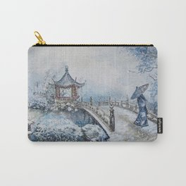 Snowstorm (Watercolor painting) Carry-All Pouch