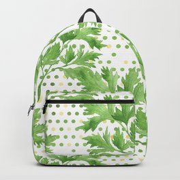 Parsley on Green Yellow Dots Backpack