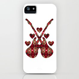 Guitars, Hearts and Roses iPhone Case