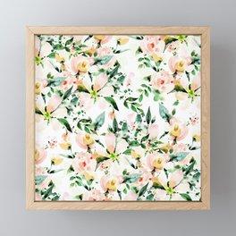 Flowered Framed Mini Art Print