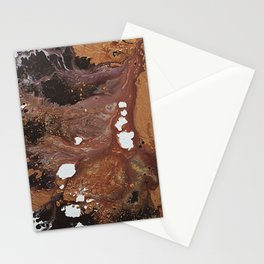 Copper abstract liquidity. Stationery Cards